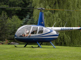 robonson r44 north country heli flite scenic tours lake george on ground Adirondacks